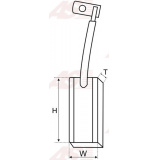 Щетки генератора AS AB4001 (CG140914) (комплект)